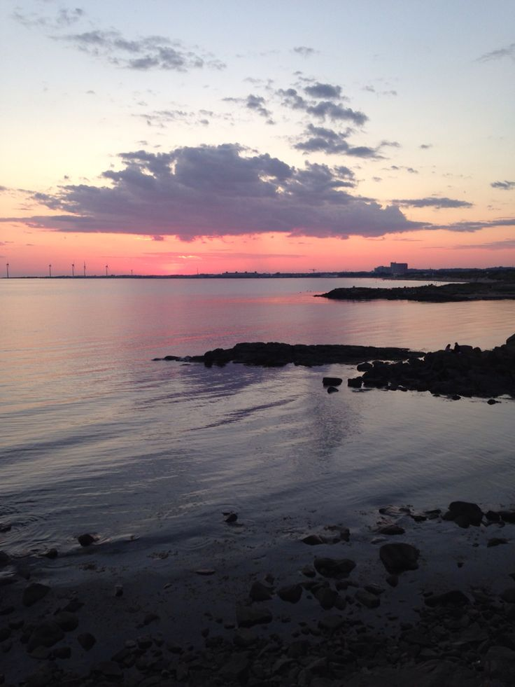 Sunset Falkenberg Skrea Sweden