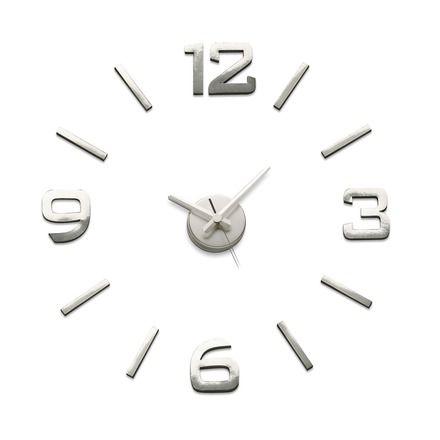 Reloj de pared pegatina plata