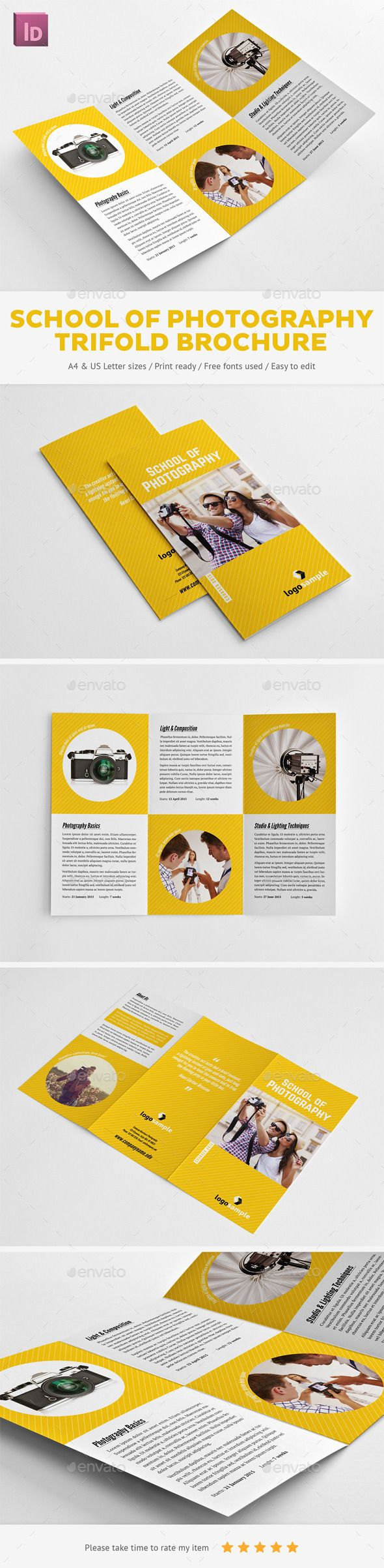 School of Photography Trifold Brochure - Informational Brochures  http://graphicriver.net/item/school-of-photography-trifold-brochure/9962466?WT.ac=portfolio&WT.z_author=Snowboy