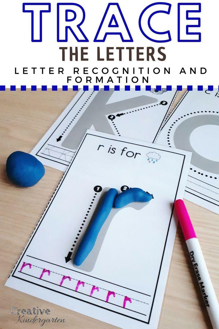 Letter Tracing Activity! Alphabet Literacy Center for Kindergarten ...