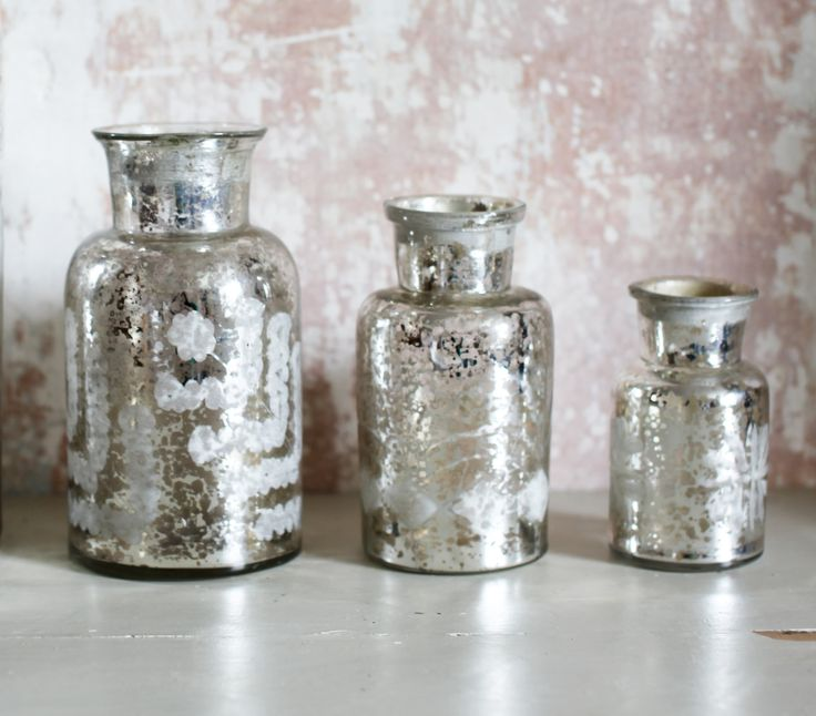 ANTIQUE SILVERED GLASS JARS – THE HOUSE JAR