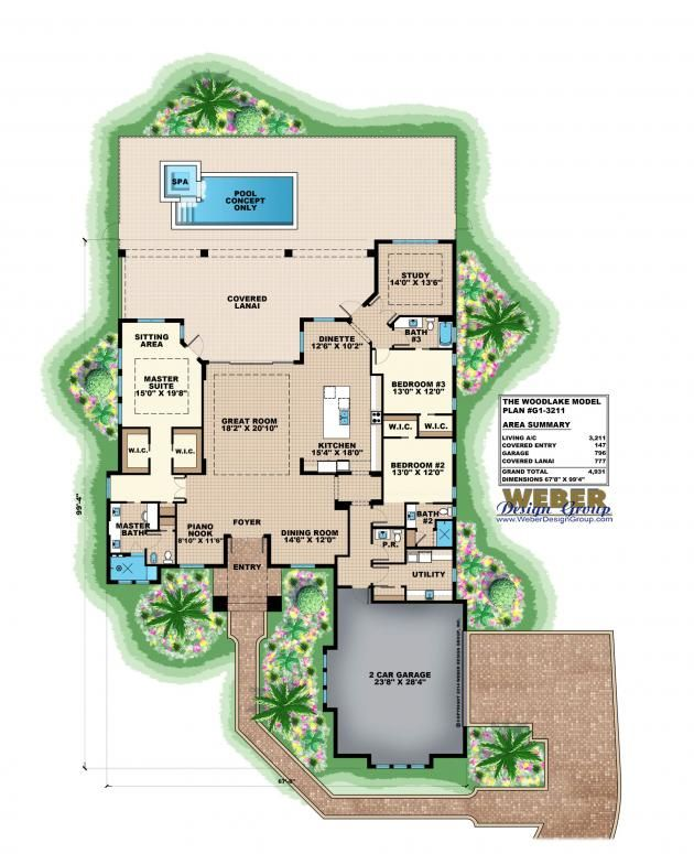 Woodlake Floor Plan by Weber Design Group | Contemporary