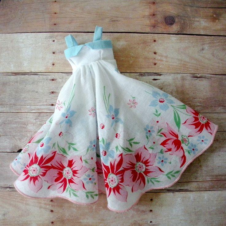https://flic.kr/p/a9ZTjv | Vintage Hankie Dress | Made from a fabulous round handkerchief.