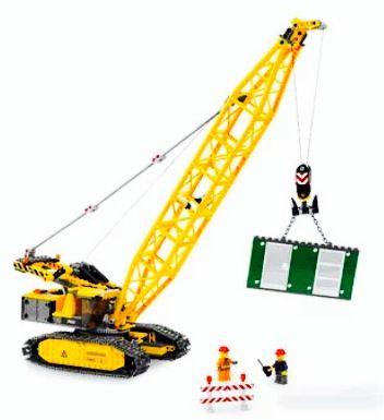 Lego 7632 crawler crane construction set boys craft set room decor city town
