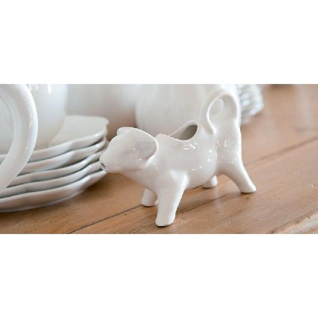 Mucchine Cow Creamer in White Porcelain China by La Porcellana Bianca