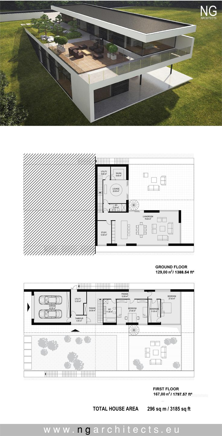 modern house plan designed by NG architects