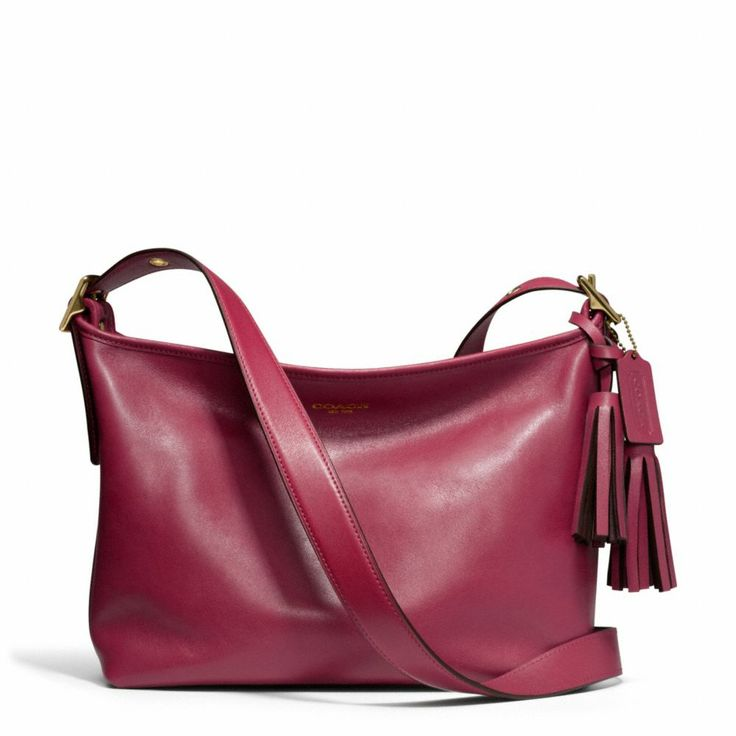 The Legacy East/west Duffle In Leather from Coach in Deep Port  That color is amazing!!!!!