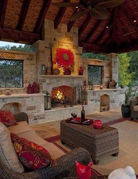 beautiful outdoor living room...