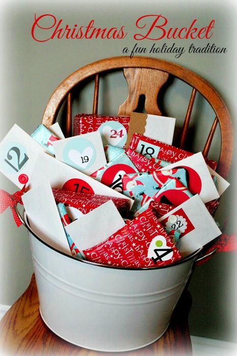 Christmas Bucket ~ and other Christmas family traditions!