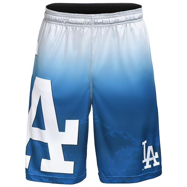 Los Angeles Dodgers MLB 2017 Mens Gradient Big Logo Training Shorts