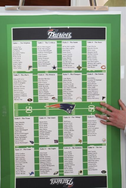 football themed wedding seating chart - Google Search