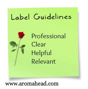 The American Herbal Products Association encourages correctly labeling essential oils. These are great guidelines for labeling your aromatherapy products.