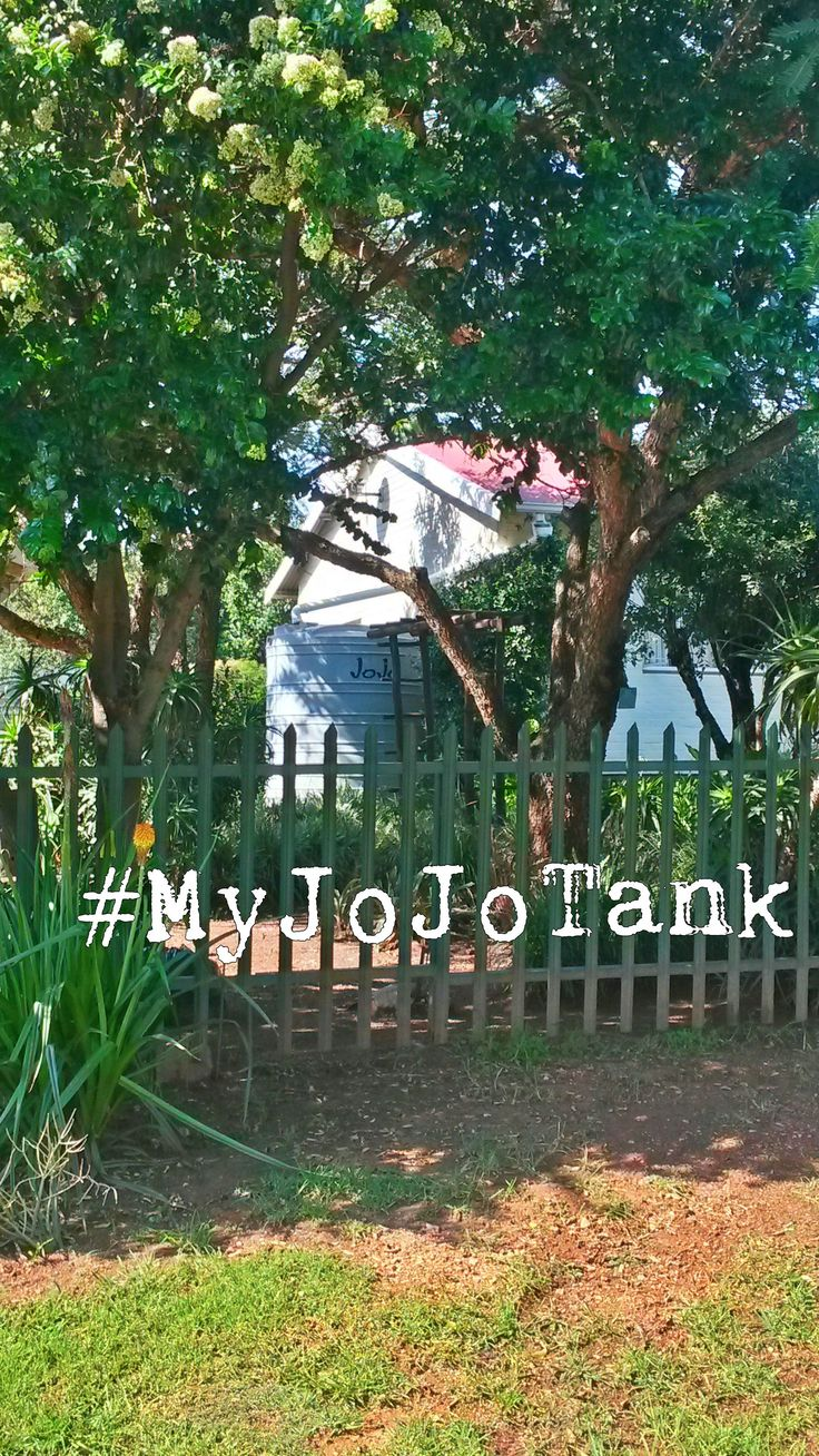 #MyJoJoTank - Our rainwater harvesting tank is clearly visible from the street. I love what it says about our family: We know that there is a water crisis in SA, and we're doing our part to help save water.  #Rainwaterharvesting #SaveWater