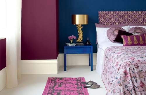 purple and blue bedroom my house pinterest