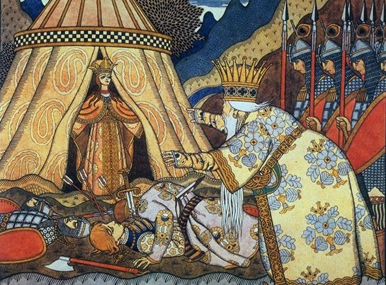 Tale of the Golden Cockerel. King Dadon. 1909. https://ru.wikipedia.org/wiki/
