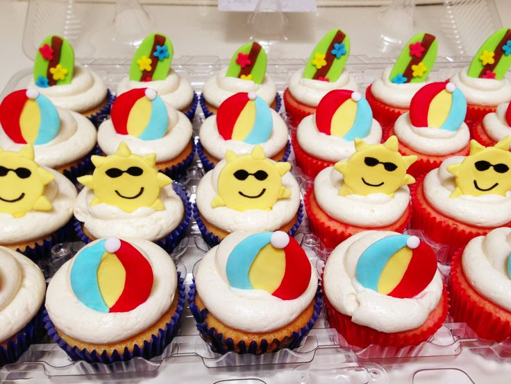Summer themed cupcakes for Bake a Wish. | My completed