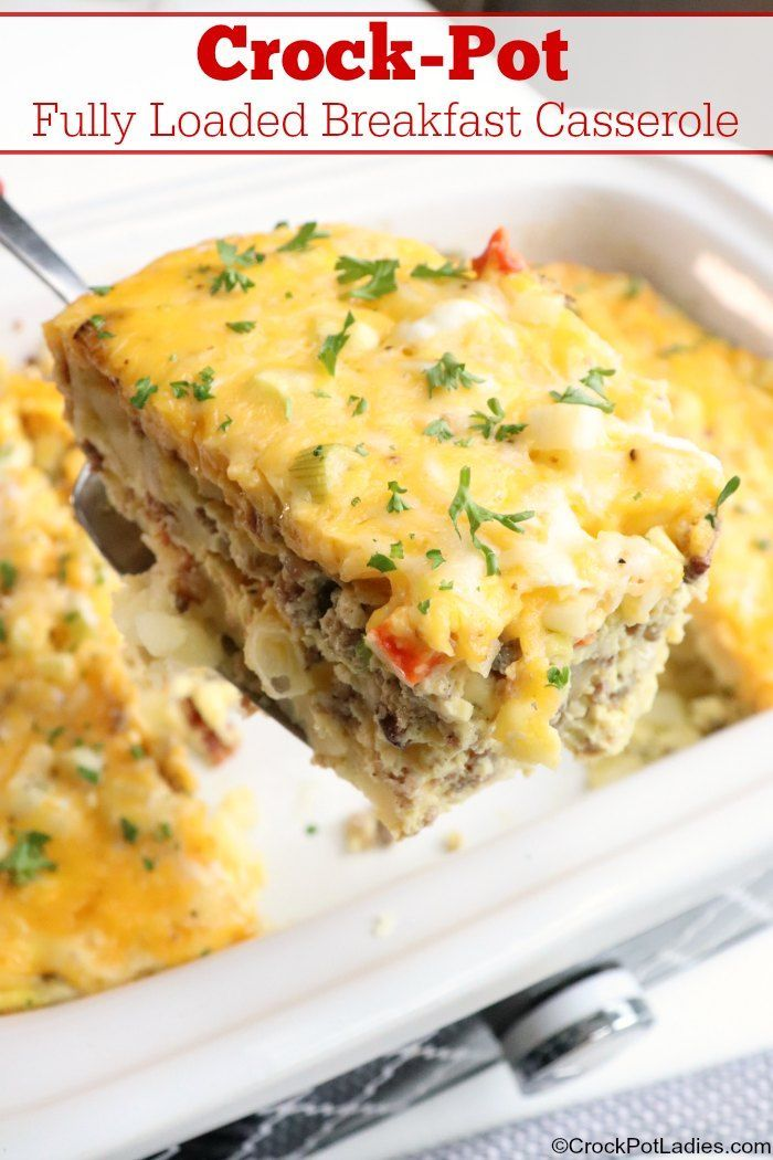 Crock Pot Fully Loaded Breakfast Casserole