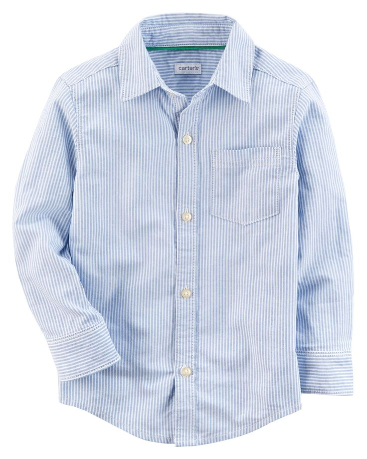Baby Boy Striped Oxford Button-Front Shirt | Carters.com
