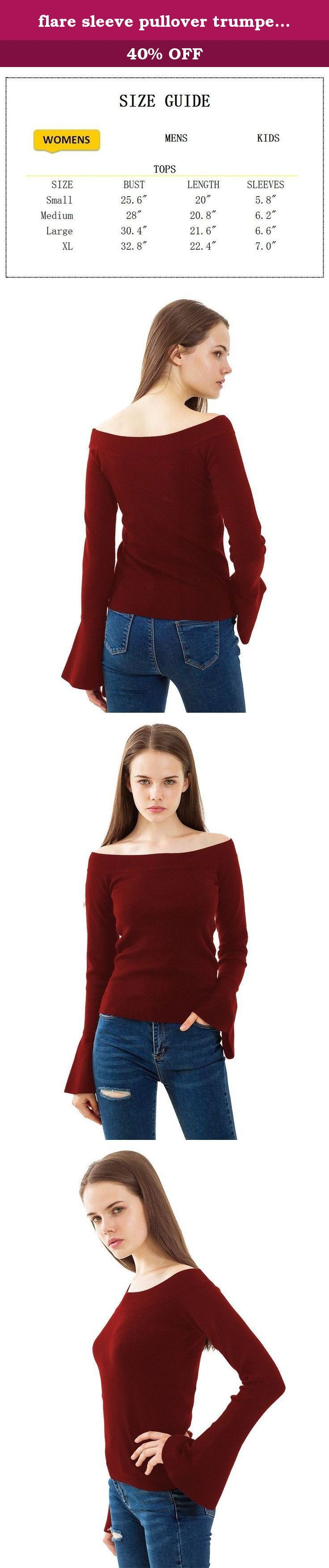flare sleeve pullover trumpet sleeve cardigan Dark Red S pullover sweater Off Shoulder Tops, Dark Red, Small. Brand owner: PRETTIGO Brand: Keeping update with fashion and making your confidence visible, she speaks for elegance, happiness, and confidence. The core value of our brand is to offer products with affordable and reasonable price, but in great quality. Product details: Materials: Cotton; Medium weight, neither too thin nor too thick, breathable and comfortable. Size details…