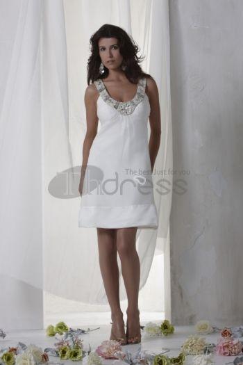 Abiti da Sposa Corti-Raccogliere bianchi moderni baby doll abiti da sposa corti