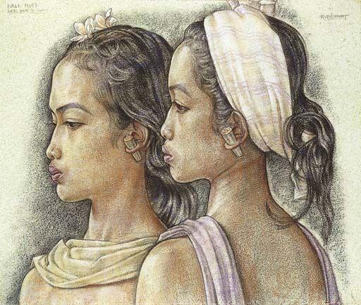 Rudolf Bonnet - Gadis-gadis Bali Cantik