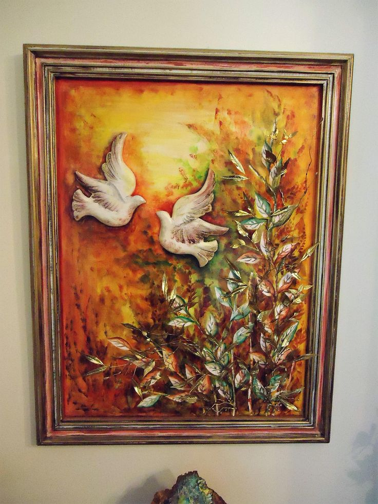 28''Mixed Media art,The Dance of Birds,Original painting,Metal Acrylics and 3D Birds on canvas,Special Decorative Art,Contemporary art. by NASTASIART on Etsy