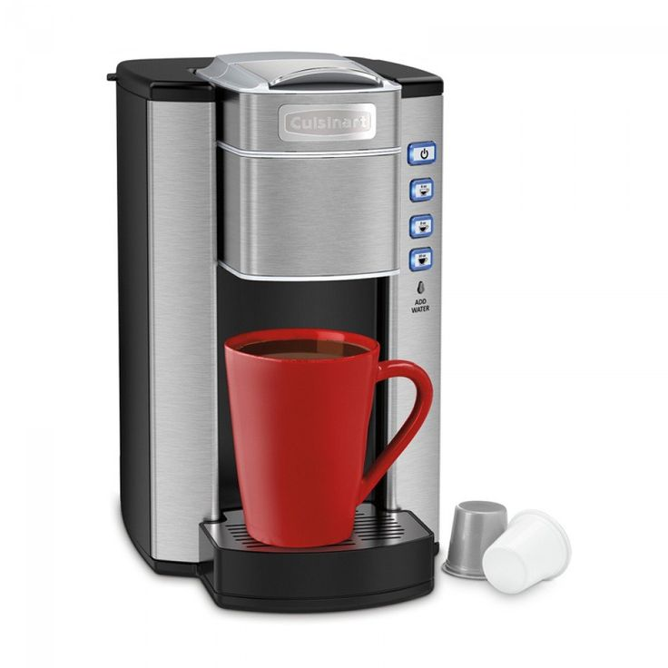 Cuisinart SS-6C Compact Single-Serve Coffeemaker    Features three serving size options, and a removable drip tray to fill travel mugs! Plus it has a 30-minute auto shutoff, so you don't have to worry about leaving it on when you leave in the morning. Compact size makes this brewer perfect for dorm rooms! #student #dorm