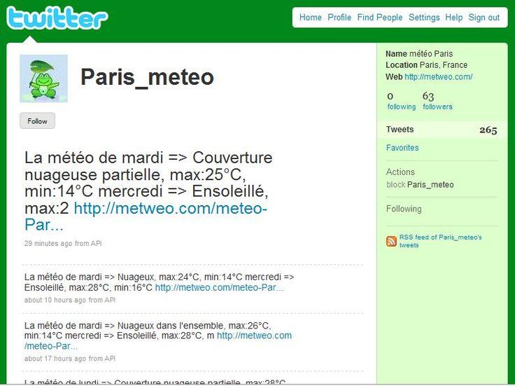 meteo paris twitter 12 Comptes Twitter Originaux A Découvrir