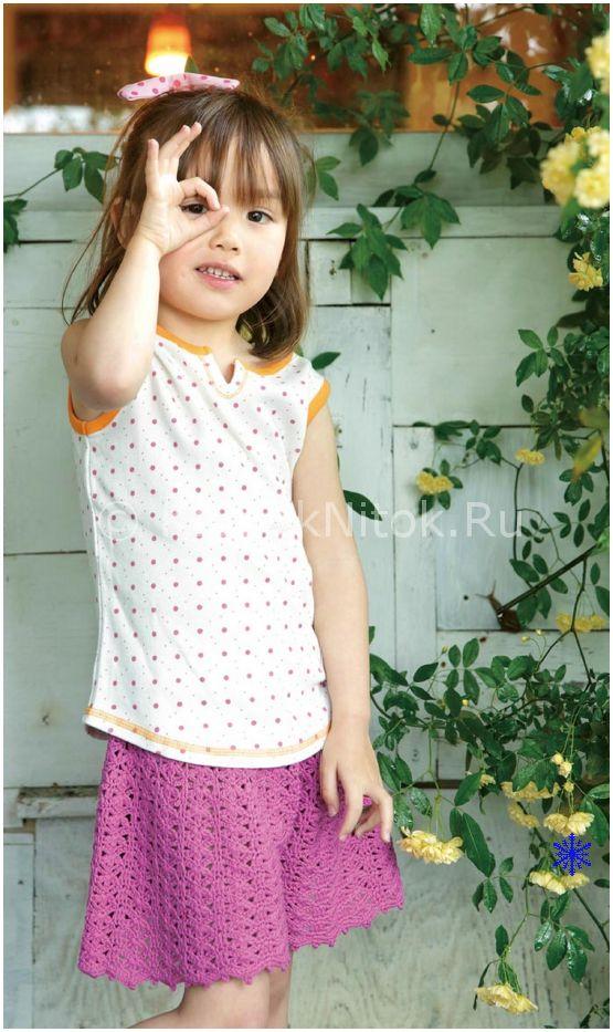 Юбка-шорты | Вязание для девочек | Вязание спицами и крючком. Схемы вязания.