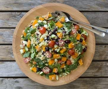 Warm mediterranean couscous salad