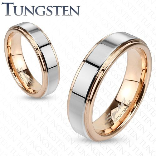 Stunning Mens Womens Tungsten Rose Gold Silver Band Ring Wedding Couples Sizes in Jewelry u Watches Jewelry u Watches