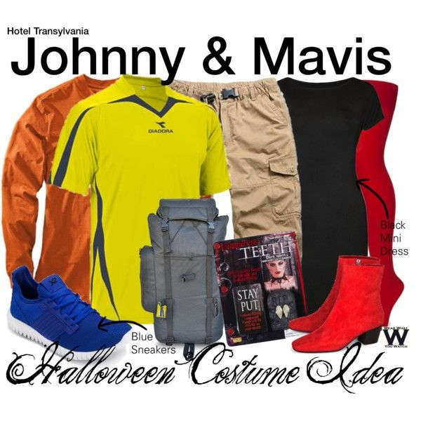Inspired by Andy Samberg (voice) & Selena Gomez (voice) as Johnny & Mavis in 2012's Hotel Transylvania.