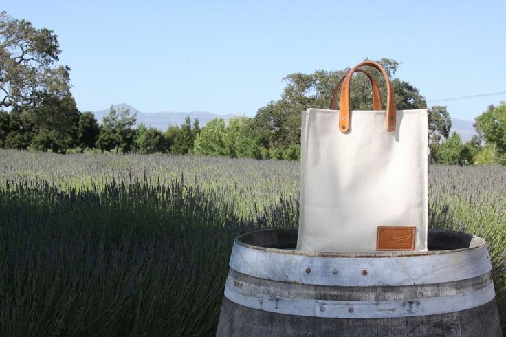 Canvas Grocery Bag. Heavy duty canvas with stitched leather handles. Great plastic alternative!
