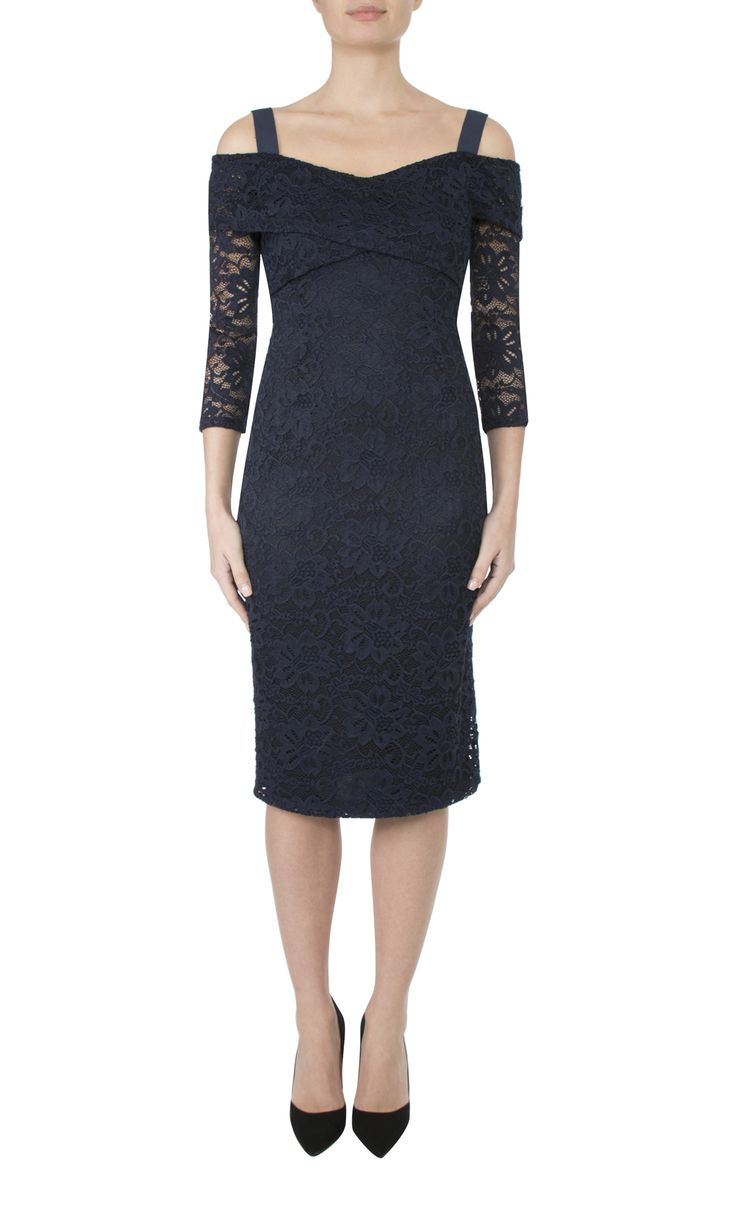 Occasion Wear   French Navy Lace Dress