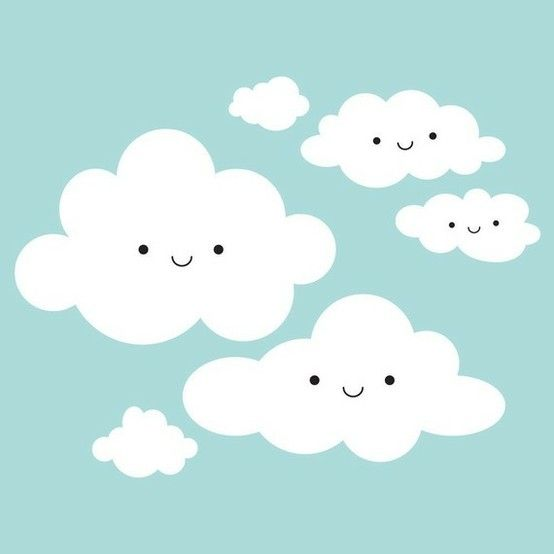 Awww, clouds really don't come any more cheerful and cute than this! :) #cute #clouds #kawaii