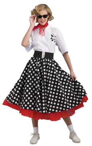Grand Heritage Womens Polka Dot 50s Costume - modest halloween costume