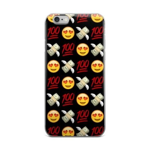 Heart Eyes Smiley Face Money With Wings 100 Emoji Collage Red Black & Yellow iPhone 4 4s 5 5s 5C 6 6s 6 Plus 6s Plus 7 & 7 Plus Case - JAKKOUTTHEBXX - Heart Eyes Smiley Face Money With Wings 100 Emoji Collage Red Black & Yellow iPhone 4 4s 5 5s 5C 6 6s 6 Plus 6s Plus 7 & 7 Plus Case iPhone 6 6s 6 Plus Phone Case/Skin - JAKKOU††HEBXX - JAKKOUTTHEBXX
