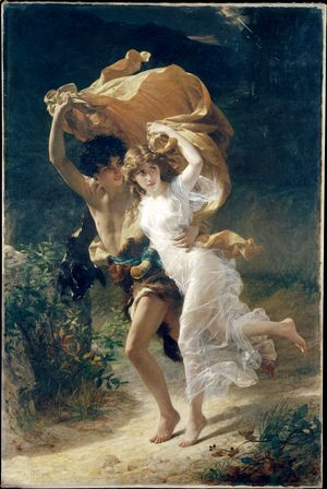 The Storm  Pierre Auguste Cot