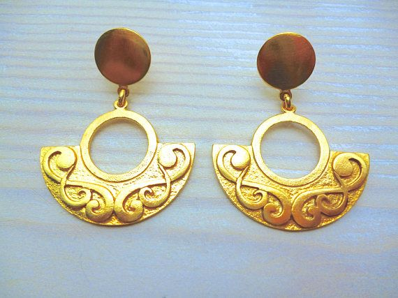 Hey, I found this really awesome Etsy listing at https://www.etsy.com/listing/569580501/half-moon-earrings-gold-greek-jewelry