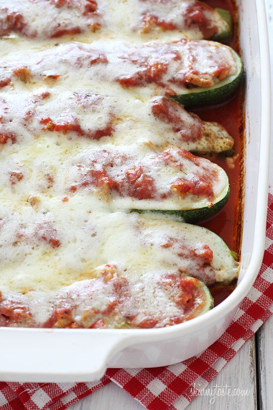 Summer zucchini hollowed out and stuffed with lean Italian chicken sausage, then topped with marinara sauce and mozzarella cheese. You guys are going to love these! With zucchini season in full bloom, I thought I would revive these low-carb favorites from the archives because they are one of my absolute summer favorites! One boat fills me up, but you can enjoy two and still keep it at around 300 calories. I love Polly-O part-skim mozzarella because it melts beautifully as you can see in…