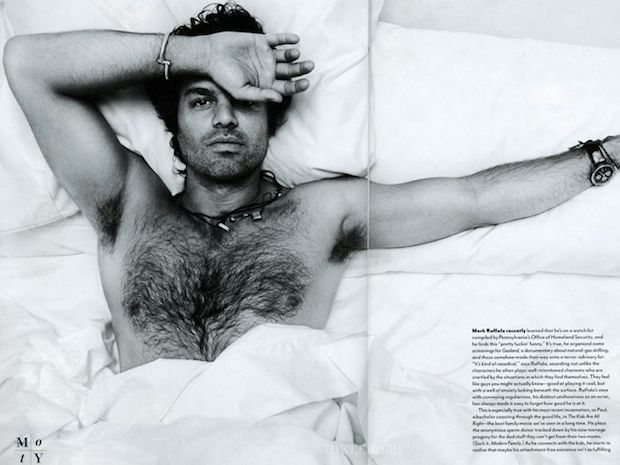 If I ever came home to Mark Ruffalo in my bed...... UNFF! I'd faint. Multiple times. He's so delicious looking!