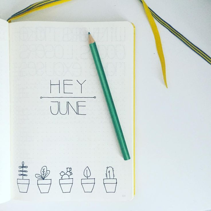"""107 Likes, 3 Comments - Fee Fee (@feefee_bujo) on Instagram: """"I'm a little late to the party ... but here's my super simple June cover page. Now, should I colour…"""""""