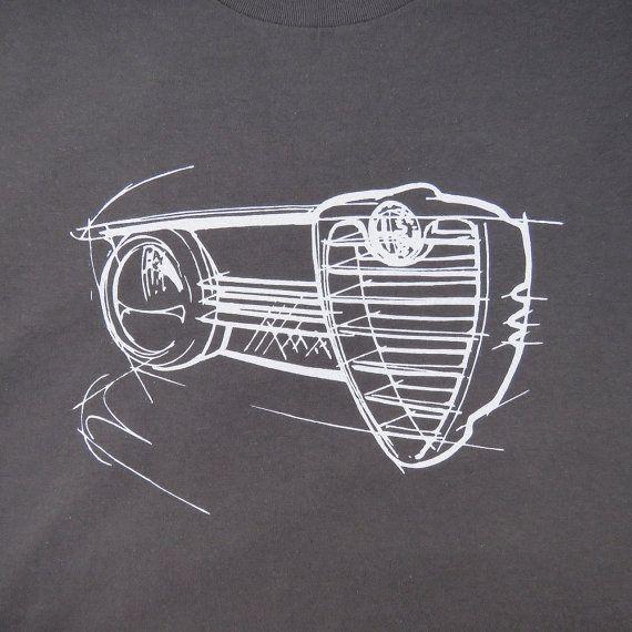 Alfa Romeo Giulia Sprint GTA Sportwagen T-shirt Kohle #alfaromeogta