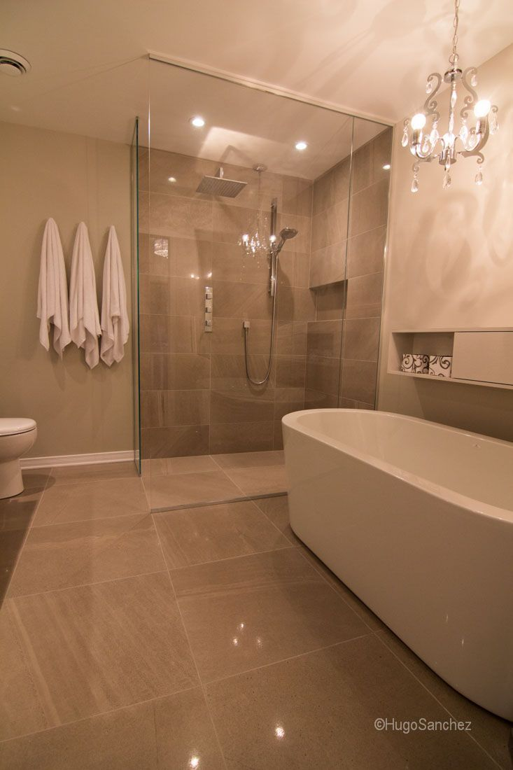 54 best bathrooms with tile showers images on pinterest showers bathroom renovation featuring a heated shower floor with schluter ditra heat membrane curbless and doorless tile shower configuration dailygadgetfo Images