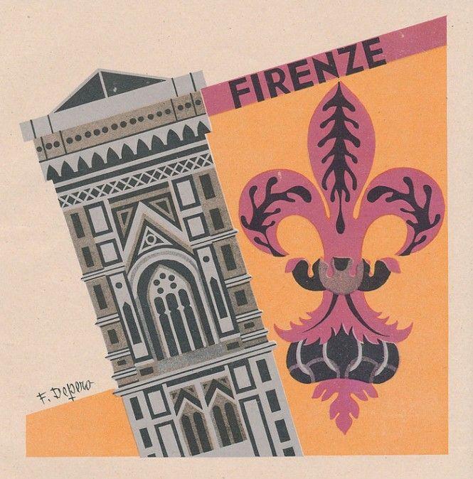 Firenze - le Province italiane - Fortunato Depero (1938)