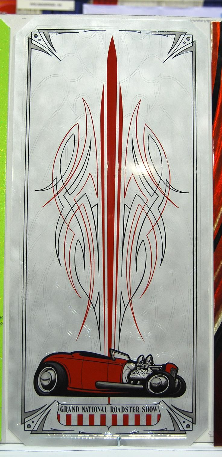 Classic cars authority cool pinstriping from the la roadster show - Gnrs2013 Silver Jpg