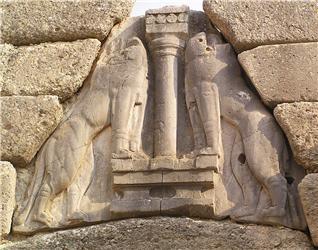 The Lion Gate, Mycenae ca 1250 BCE