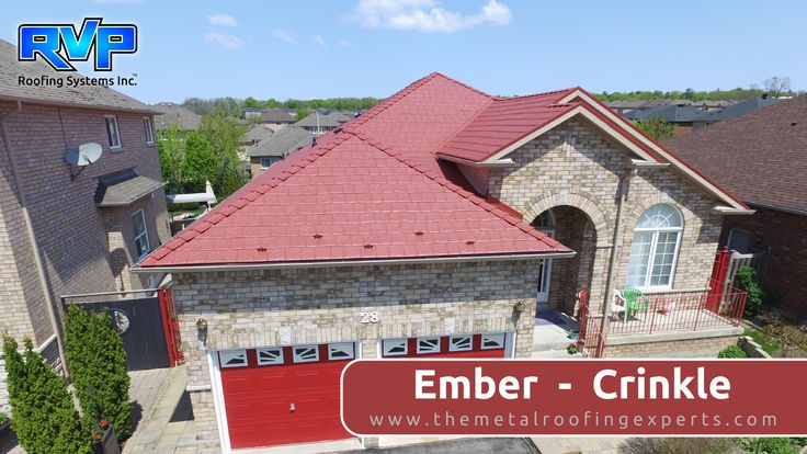 An eye-catching roof to compliment a wide variety of home designs.  It is sure to please every homeowner.  Take a look at more at www.rvp-roofing.com  #highstrengthsteel #armadura #rvp #embercrinkle # permanentroof