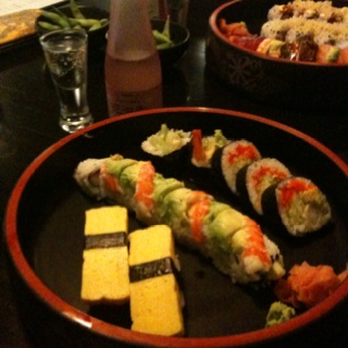 Tokyo Japanese Restaurant in Oklahoma City. . . Center roll is the No. 2 Roll which is my favorite.