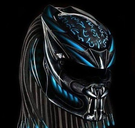 Predator 2 Motorcycle Helmet (Handmade) DOT Approved - Size S.M.L.XL #Celloz #Helmet